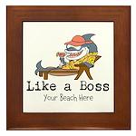 Like a Boss Framed Tile