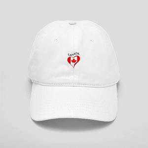 FLAG HEART CANADA Baseball Cap