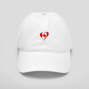 CANADIAN FLAG HEART Baseball Cap