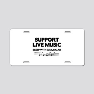 Support Live Music Aluminum License Plate