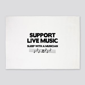 Support Live Music 5'x7'Area Rug