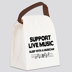 Support Live Music Canvas Lunch Bag