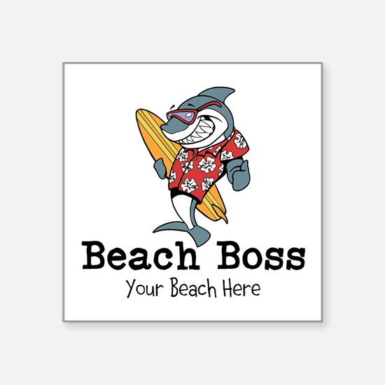 Beach Boss Sticker