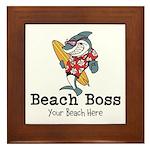 Beach Boss Framed Tile