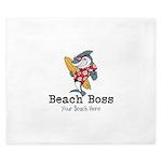 Beach Boss King Duvet