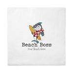 Beach Boss Queen Duvet
