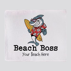 Beach Boss Throw Blanket