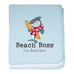 Beach Boss baby blanket