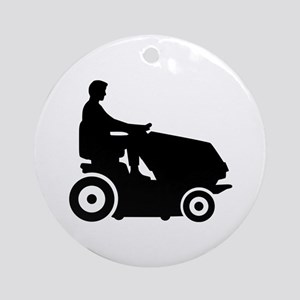 Lawn mower driver Ornament (Round)