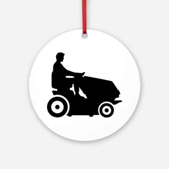 Lawn mower driver Ornament (Round)