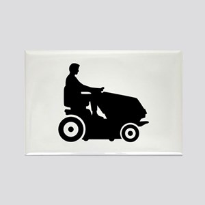 Lawn mower driver Rectangle Magnet