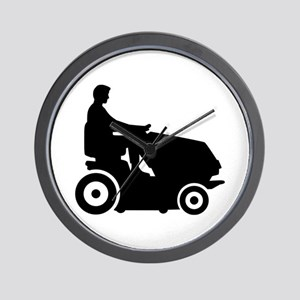 Lawn mower driver Wall Clock