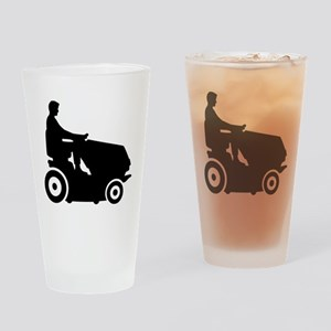 Lawn mower driver Drinking Glass
