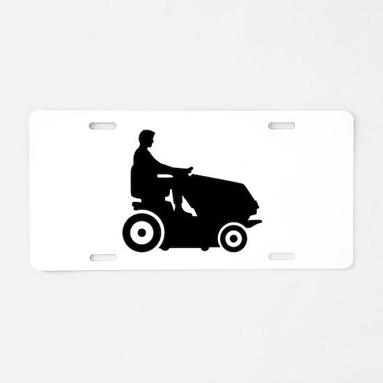 Lawn mower driver Aluminum License Plate