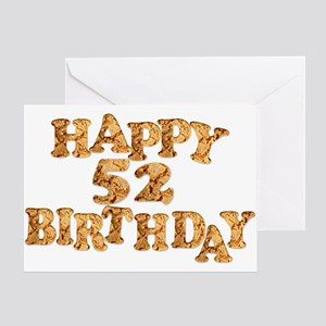 52nd birthday card for a cookie lover Greeting Car