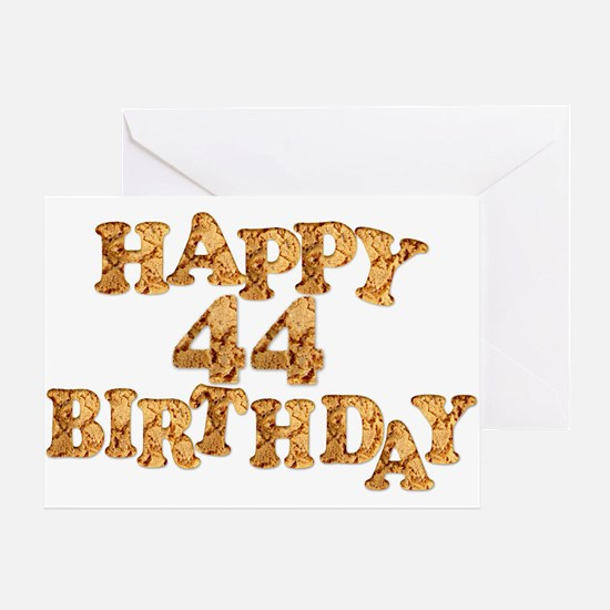 44th birthday card for a cookie lover Greeting Car