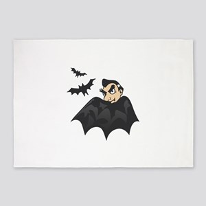 VAMPIRE AND BATS 5'x7'Area Rug