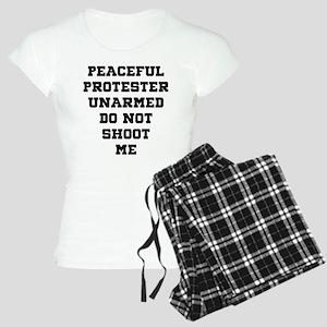 Peaceful Protester Unarmed Women's Light Pajamas