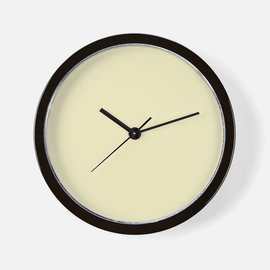 modern light yellow Wall Clock