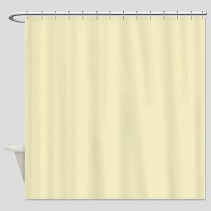 modern light yellow Shower Curtain