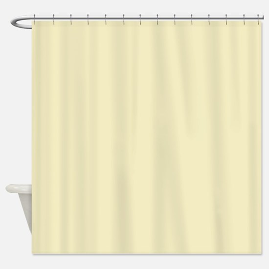 modern light yellow Shower Curtain