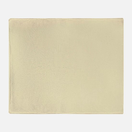 modern light yellow Throw Blanket