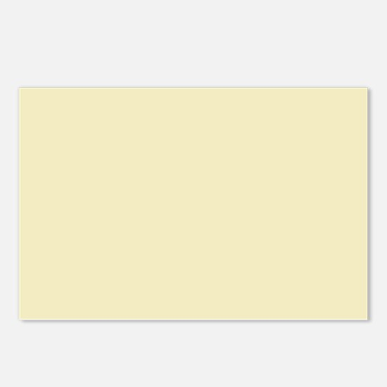 modern light yellow Postcards (Package of 8)