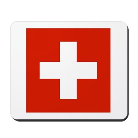 Swiss Flag Mousepad