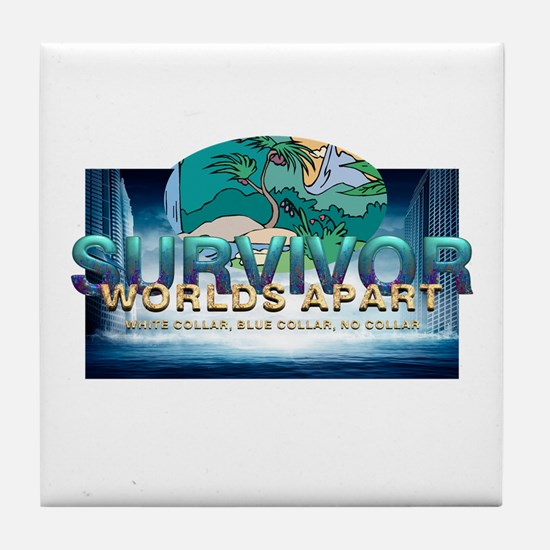 Survivor Worlds Apart Tile Coaster