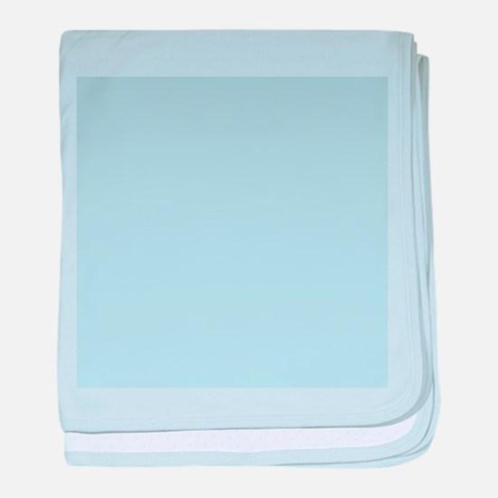 modern chic light blue baby blanket