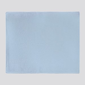 modern chic light blue Throw Blanket