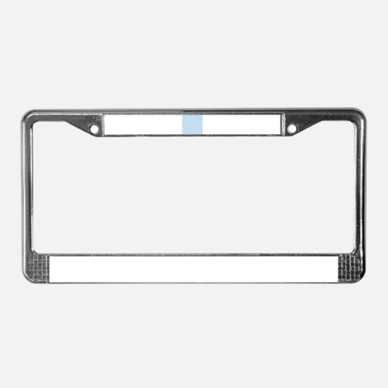 modern chic light blue License Plate Frame