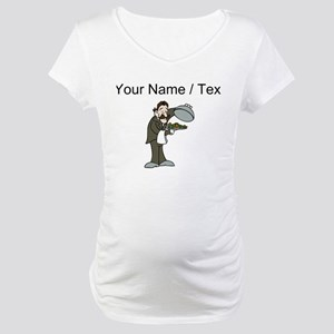Custom Waiter Maternity T-Shirt