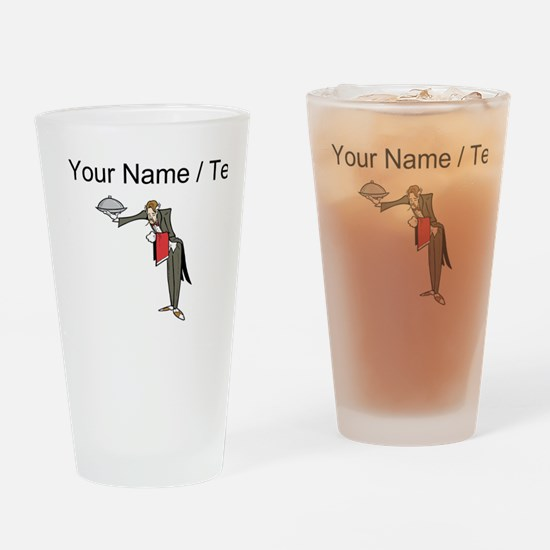 Custom Waiter Drinking Glass