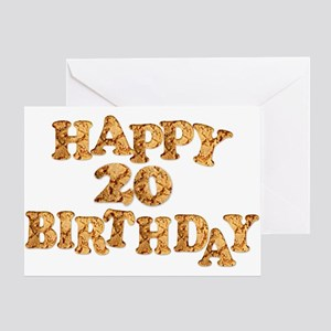 20th birthday card for a cookie lover Greeting Car