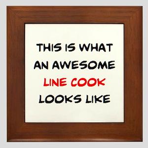 awesome line cook Framed Tile