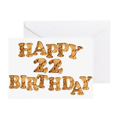 22nd Birthday Card For A Cookie Lover Greeting Car By Supercards