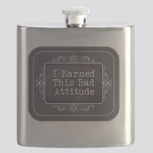 Earned this Bad Attitude Flask