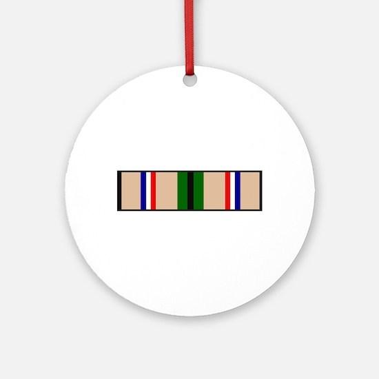 DESERT STORM RIBBON Ornament (Round)