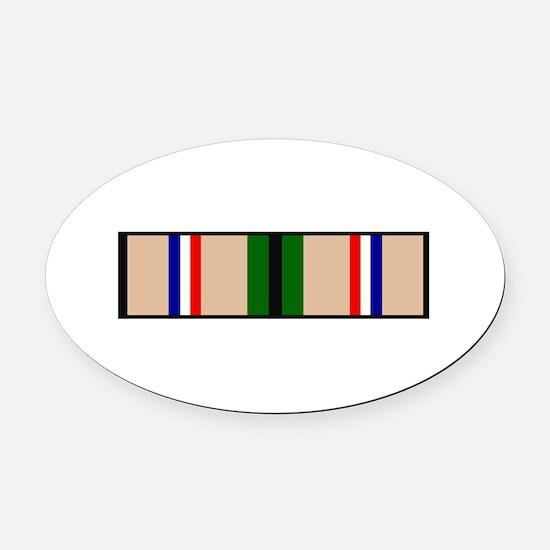 DESERT STORM RIBBON Oval Car Magnet