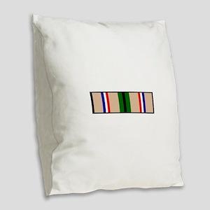 DESERT STORM RIBBON Burlap Throw Pillow