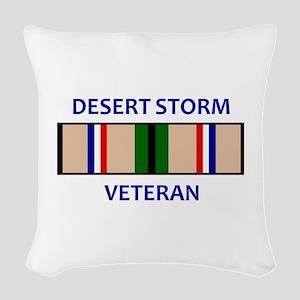 DESERT STORM VETERAN Woven Throw Pillow