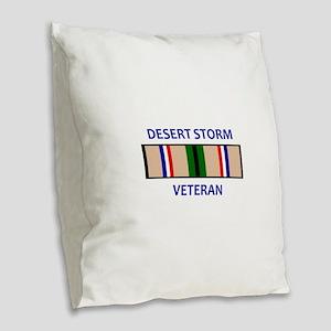 DESERT STORM VETERAN Burlap Throw Pillow