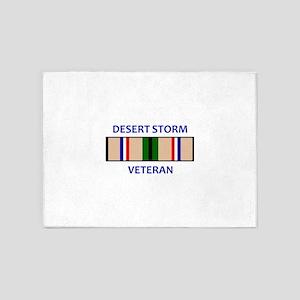DESERT STORM VETERAN 5'x7'Area Rug