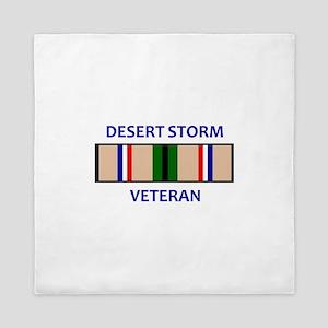 DESERT STORM VETERAN Queen Duvet