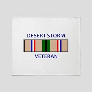 DESERT STORM VETERAN Throw Blanket