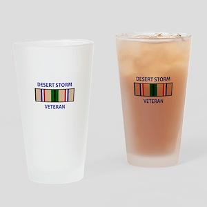DESERT STORM VETERAN Drinking Glass
