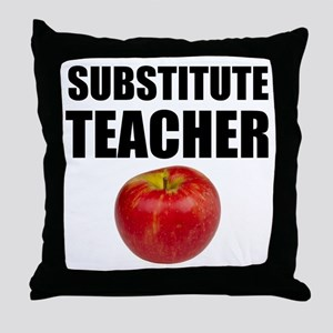 Substitute Teacher Throw Pillow