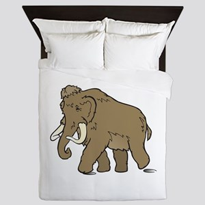 Cute Woolly Mammoth Queen Duvet