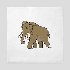 Cute Woolly Mammoth Queen Duvet